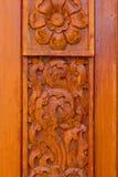 Wood pattern Handmade wood carvings Royalty Free Stock Photo