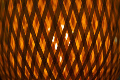 Wood Pattern. Wood lamp with abstract pattern Stock Photo