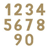 Wood pattern numbers Stock Photos