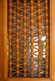 Wood pattern texture, part of the door Royalty Free Stock Image