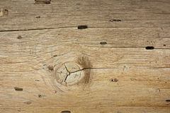 Wood Patterned With Grain And Beetle Holes Stock Photo