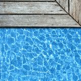 Wood pavement with pool Royalty Free Stock Images