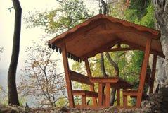 Wood pavilion Stock Images