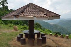 Wood paviljong Arkivbild