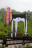 Wood paviljong, Thailand Arkivbild
