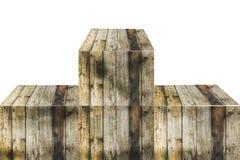 Wood pedestal Stock Photo