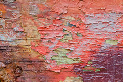 Wood with peeling paint Royalty Free Stock Image