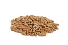 Wood pellet background Stock Images