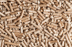 Wood pellet background pattern Royalty Free Stock Photos