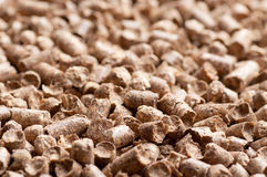 Wood pellet background pattern Royalty Free Stock Image