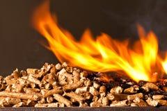 Wood pellet Stock Photo
