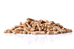 Wood pellet Stock Image