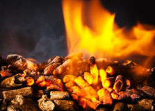 Wood pellet Stock Photo