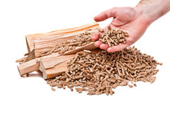 Wood pellet Stock Images
