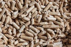 Wood pellet texture Royalty Free Stock Photos