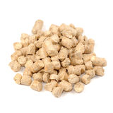 Wood Pellet (Pine) Cat Litter Isolated on White Ba Royalty Free Stock Images