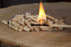 Wood pellets. For fireplaces and stoves Royalty Free Stock Photography