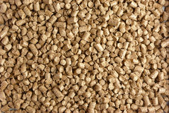Wood pellets. Close-up of small wood pellets Stock Image