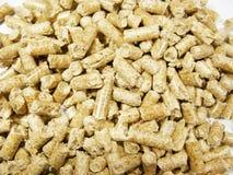 Wood pellets. Background close up Stock Image