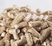 Wood Pellets. Alternative fuel: Wood pellets made of sawmill waste Stock Photos