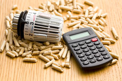 Wood pellets as ecological and economical heating Royalty Free Stock Photography