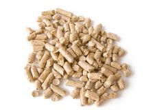 Wood pellets background close up Stock Photography