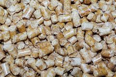 Wood pellets. Biofuels. The cat litter. royalty free stock photos
