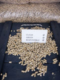 Wood pellets and check list Stock Photos