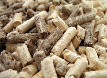 Wood Pellets Close-up Stock Images