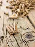 Wood pellets in close up Royalty Free Stock Photography