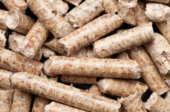 Wood pellets forming a background pattern Stock Images