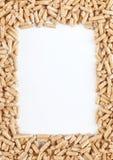 Wood pellets frame stock image