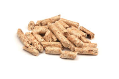 Wood pellets Royalty Free Stock Photography