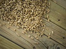 Wood pellets Stock Images