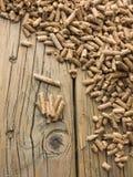 Wood pellets Stock Photography