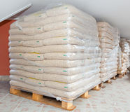 Wood pellets Stock Photography