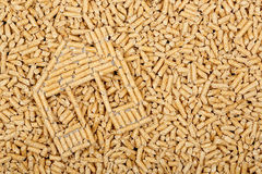 Wood pellets Royalty Free Stock Photos