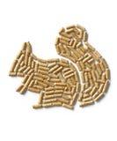 Wood pellets - squirrel Stock Photo