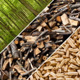 Wood pellets Royalty Free Stock Photo