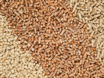 Wood pellets three colours Royalty Free Stock Photography