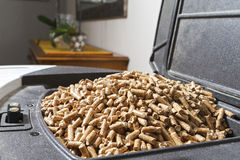 Wood pellets. Used to heat homes Royalty Free Stock Photo