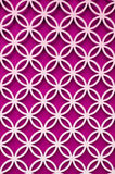 wood perforated  with Bright Pink color background Royalty Free Stock Photography