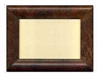 Wood photo frame. Chic picture frame of briar for picture or text Royalty Free Stock Photos