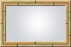Wood photo frame vector illustration
