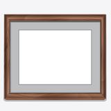 Wood photo frame isolated on white Royalty Free Stock Photo