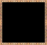Wood photo frame, metal nails Stock Photography