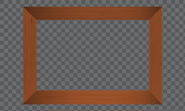 Wood Photo frame. Realistic wooden border. royalty free illustration