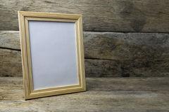 Wood photo frame stock images