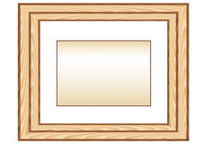 Wood_photo_framework Fotografie Stock Libere da Diritti