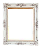 Wood photo image frame isolated Stock Images